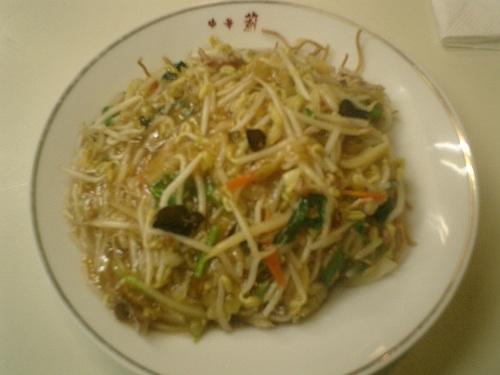 33) 硬ヤキソバ食った